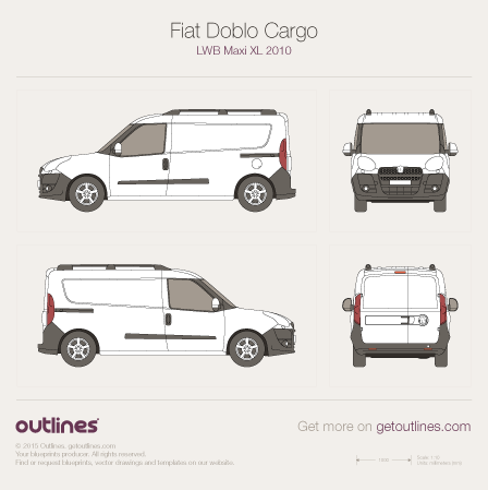2009 fiat doblo drawings outlines. Black Bedroom Furniture Sets. Home Design Ideas