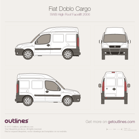 2005 Fiat Doblo Cargo Van blueprints and drawings