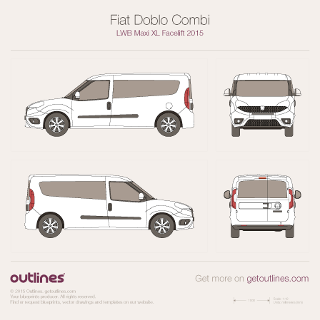 2015 fiat doblo blueprints outlines fiat doblo blueprints malvernweather Choice Image