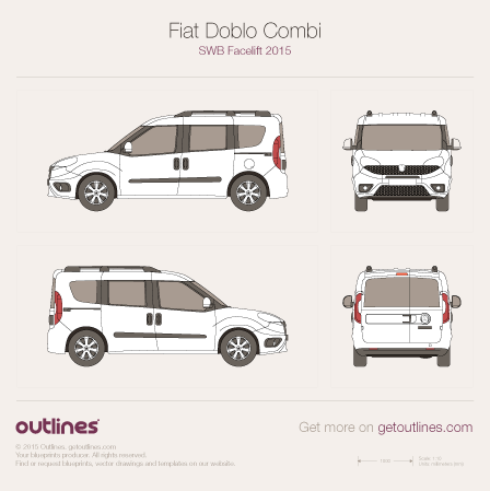 2015 Fiat Doblo Combi Wagon blueprints and drawings