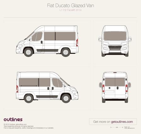 2014 Fiat Ducato Glazed Van Wagon blueprints and drawings