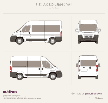2007 Fiat Ducato Glazed Van Wagon blueprints and drawings