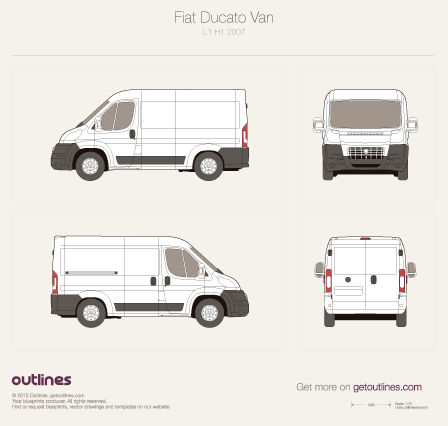 2007 Fiat Ducato Van Wagon blueprints and drawings