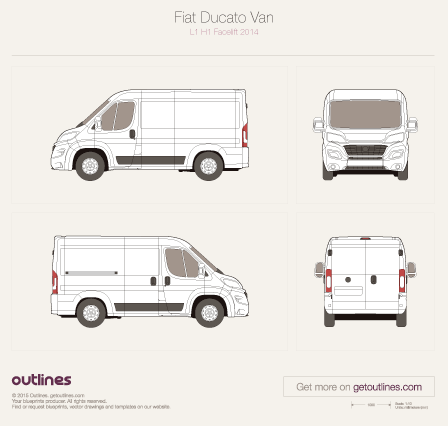 2014 Fiat Ducato Van Wagon blueprints and drawings