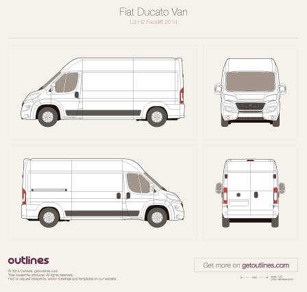 Fiat Ducato drawings and vector blueprints