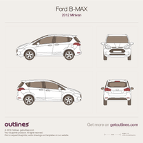 2012 Ford B-Max Minivan blueprint