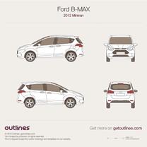 2012 Ford B-Max Minivan blueprint