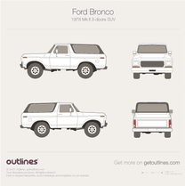 1978 Ford Bronco Mk II 3-doors SUV blueprint