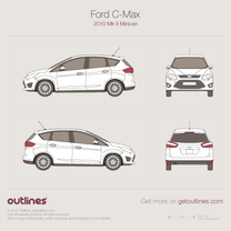 2010 Ford C-Max II Minivan blueprint