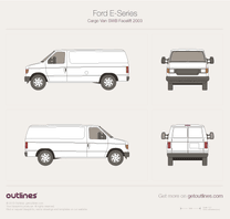 2003 Ford Econoline Wagon Regular Facelift Van blueprint