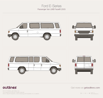 2003 Ford E250 Passenger LWB Facelift Wagon blueprint
