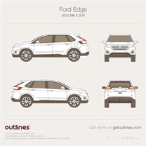 2015 Ford Edge SUV blueprint