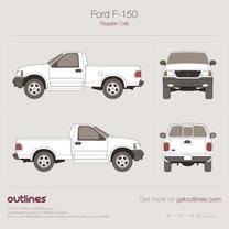 1997 Ford F-150 Mk X Standard Cab Pickup Truck blueprint