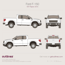 2015 Ford F-150 SVT Raptor Pickup Truck blueprint