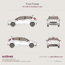 2013 Ford Fiesta ST Mk VI 5-door Hatchback blueprint