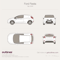 2008 Ford Fiesta Mk VI Van blueprint