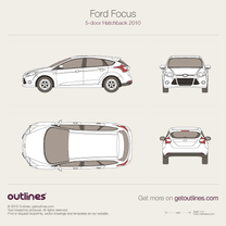 2010 Ford Focus 5-door Hatchback blueprint
