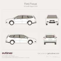 2008 Ford Focus II Facelift Wagon blueprint