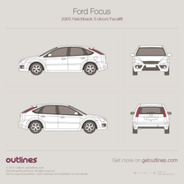 2008 Ford Focus ST Facelift 5-door Hatchback blueprint