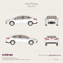 2010 Ford Focus Sedan blueprint