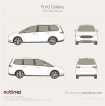 2015 Ford Galaxy III Minivan blueprint
