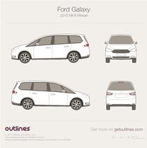 2015 Ford Galaxy III Minivan blueprint