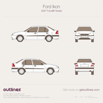 2007 Ford Ikon Facelift Sedan blueprint