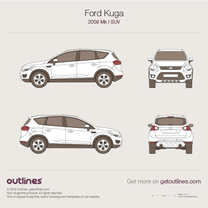 2008 Ford Kuga SUV blueprint