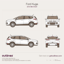 2013 Ford Kuga II SUV blueprint