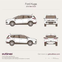 2013 Ford Kuga II SUV blueprint