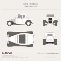 1927 Ford Model A Custom Coupe blueprint