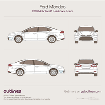 2010 Ford Mondeo IV Liftback Facelift Hatchback blueprint