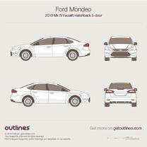 2010 Ford Mondeo IV Liftback Facelift Hatchback blueprint
