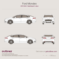 2015 Ford Mondeo V Liftback Hatchback blueprint