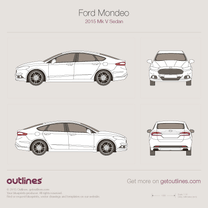 2015 Ford Mondeo V Sedan blueprint