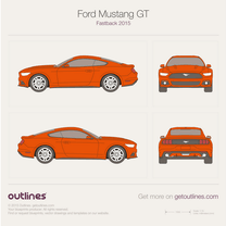 2015 Ford Mustang GT Fastback Coupe blueprint