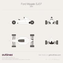 2007 Ford Mygale SJ07 Formula blueprint