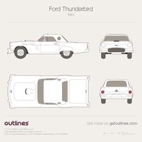 1955 Ford Thunderbird Mk I Cabriolet blueprint