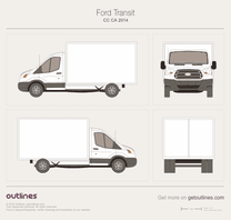 2014 Ford Transit CC-CA Box Van blueprint