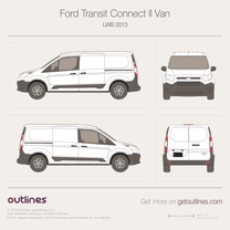2013 Ford Transit Connect LWB Van blueprint