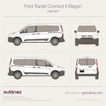 2013 Ford Transit Connect Wagon LWB Minivan blueprint