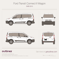 2014 Ford Tourneo Connect II SWB Minivan blueprint