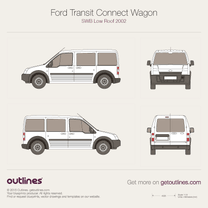 2002 Ford Transit Connect Wagon SWB Low Roof Wagon blueprint