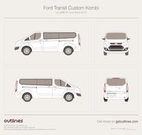 2012 Ford Tourneo Custom L2 LWB H1 Low Roof Minivan blueprint