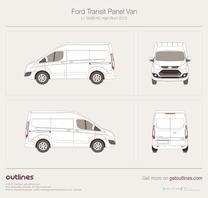 2012 Ford Transit Custom Panel Van L1 SWB H2 High Roof Van blueprint