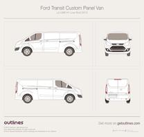 2012 Ford Transit Custom Panel Van L2 LWB H1 Low Roof Van blueprint