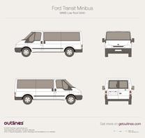2000 Ford Transit Minibus MWB Low Roof Wagon blueprint