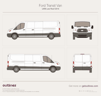 2013 Ford Transit Van LWB Low Roof Van blueprint