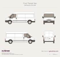 2000 Ford Transit Van LWB Medium Roof Van blueprint