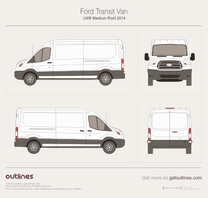 2013 Ford Transit Van LWB Medium Roof Van blueprint